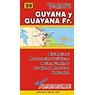 Mapa de Rutas y Caminos de Guayana y Guayana Francesa