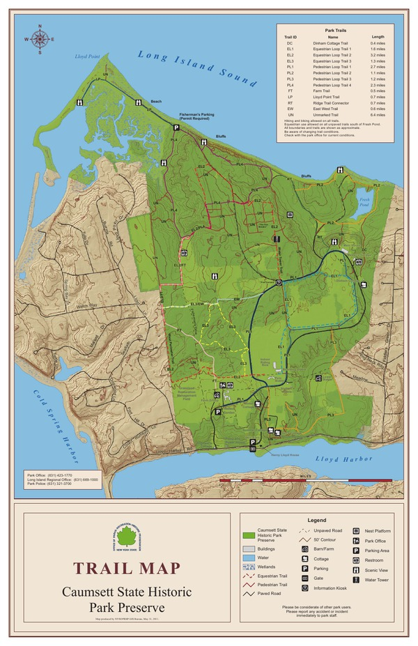 Caumsett State Historic Park Preserve Trail Map