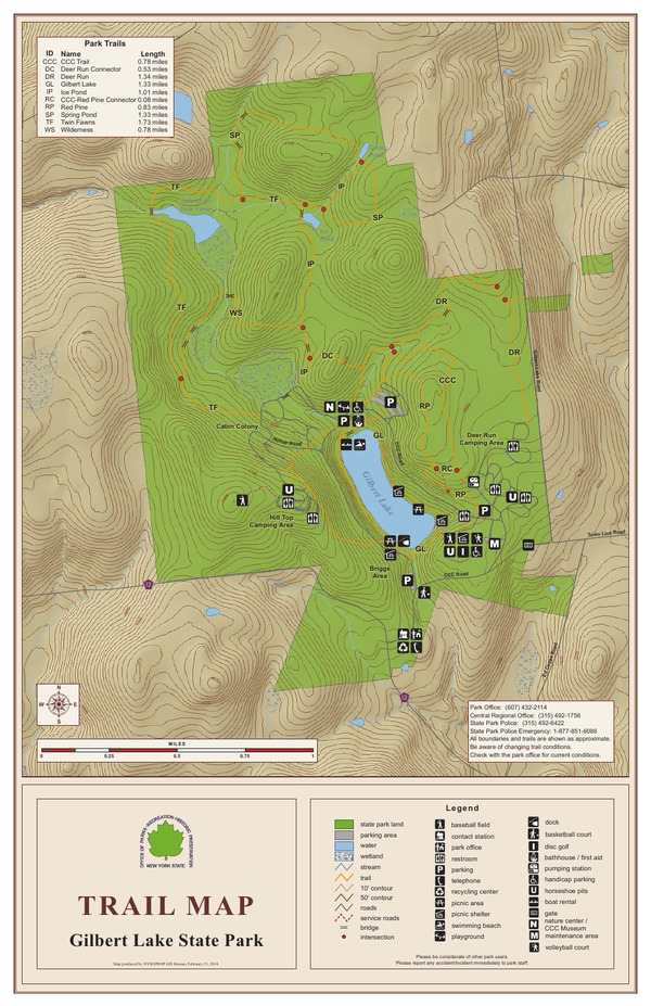 Gilbert Lake State Park Trail Map