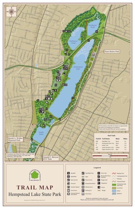 Hempstead Lake State Park Trail Map