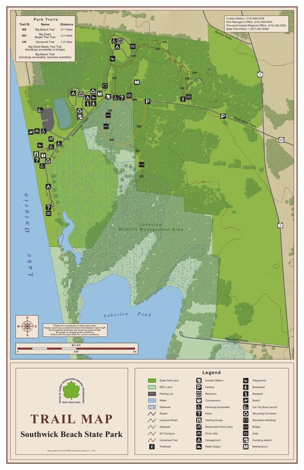 Southwick Beach State Park Trail Map
