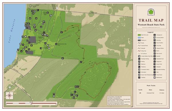 Westcott Beach State Park Trail Map