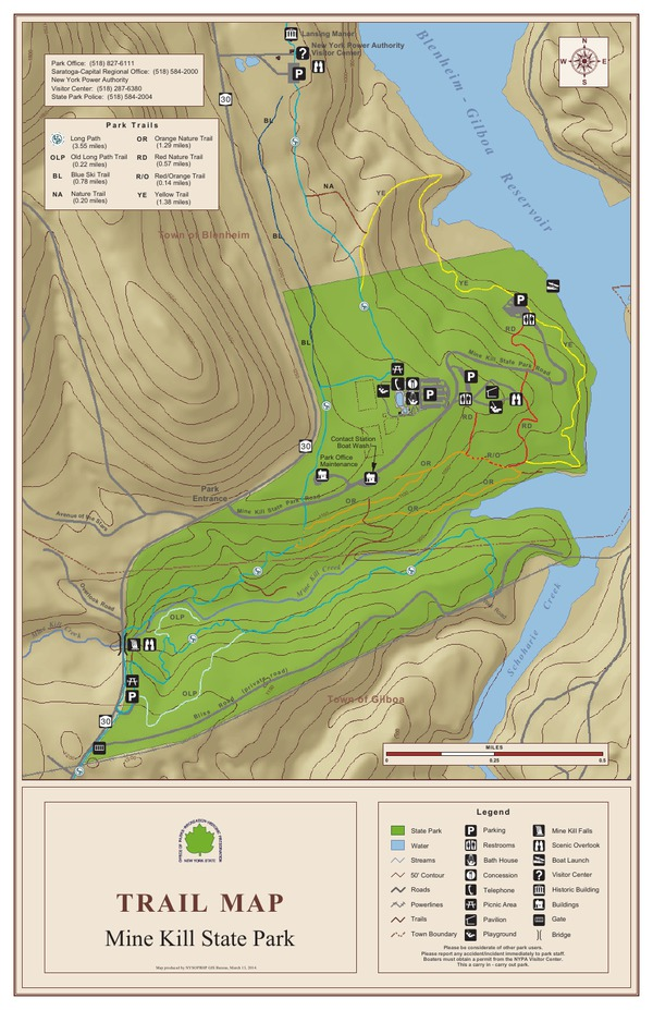 Mine Kill State Park Trail Map
