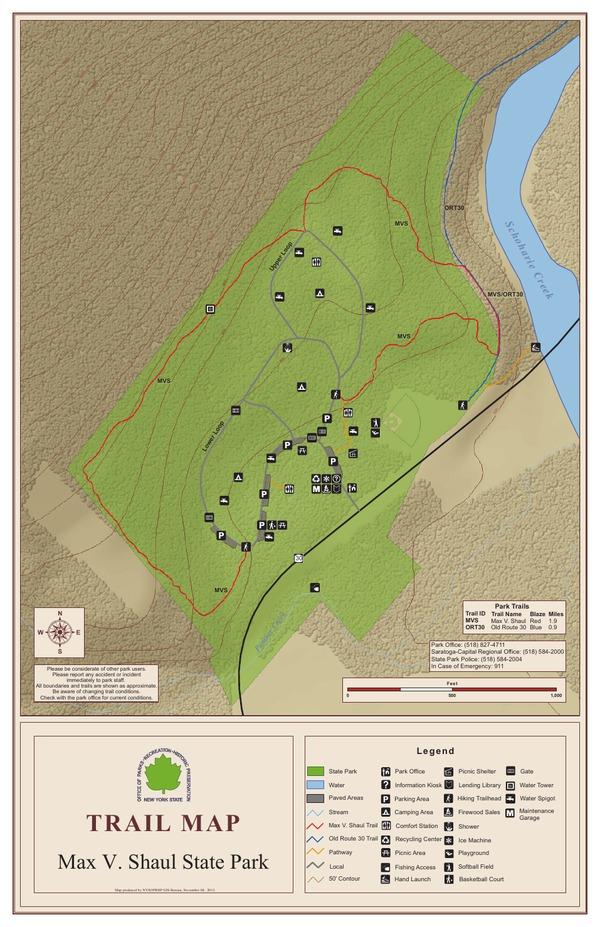 Max V Shaul Trail Map