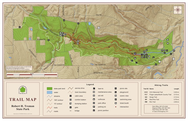 Robert H Treman State Park Trail Map
