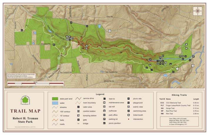 Robert H Treman State Park Trail Map