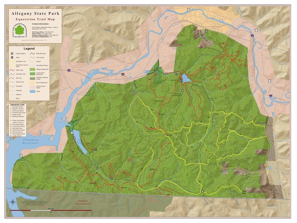 Allegany State Park Equestrian Trail Map