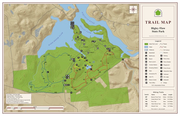 Higley Flow State Park Trail Map