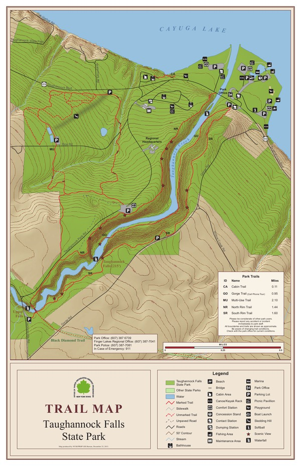 Taghannock Falls Trail Map