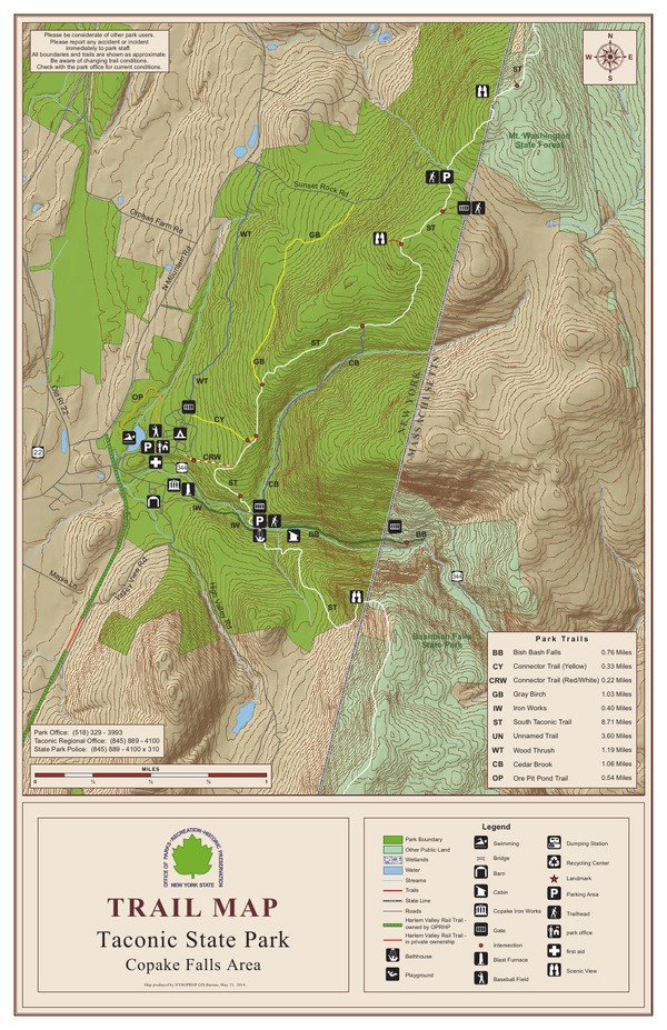 Taconic State Park Trail Map North