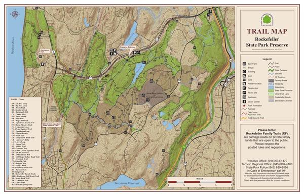 Rockefeller State Park Preserve Trail Map
