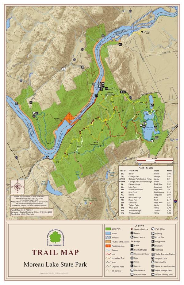 Moreau Lake State Park Trail Map