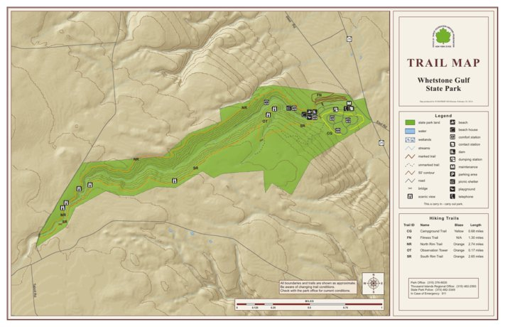 Whetstone Gulf State Park Trail Map - New York State Parks - Avenza Maps