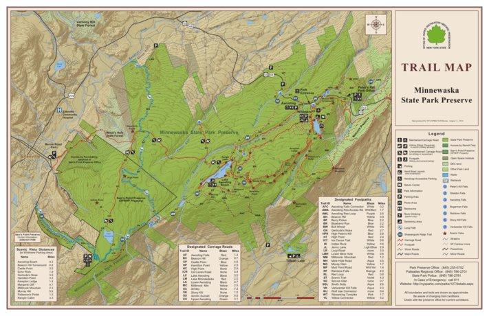 Minnewaska State Park Preserve Trail Map