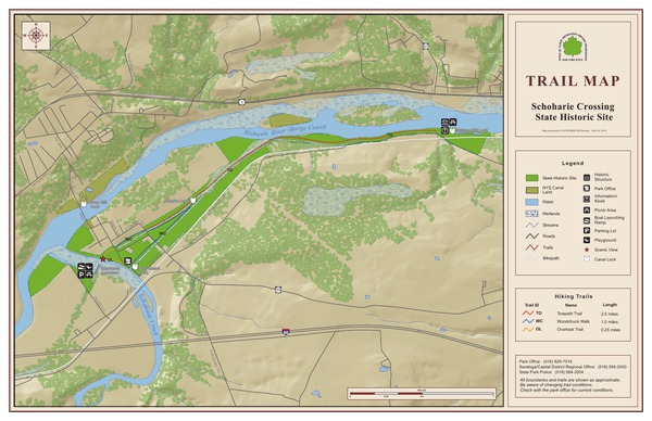 Schoharie Crossing State Historic Site Trail Map
