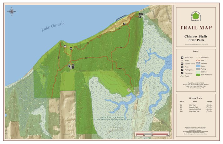 Chimney Bluffs State Park Trail Map