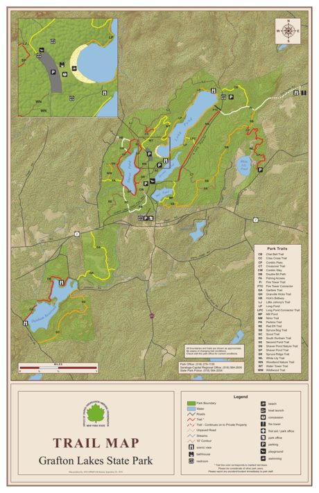 Grafton Lakes State Parks Trail Map