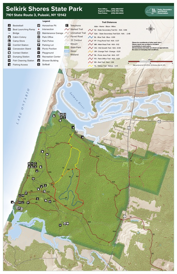Selkirk Shores State Park Trail Map
