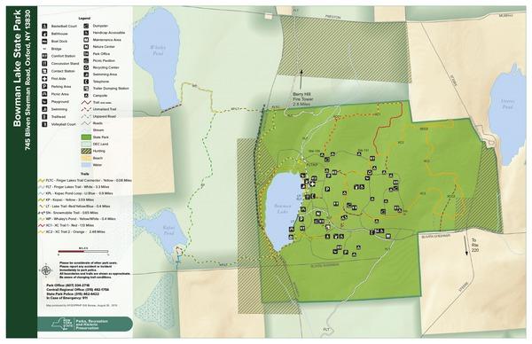 Bowman Lake State Park Trail Map