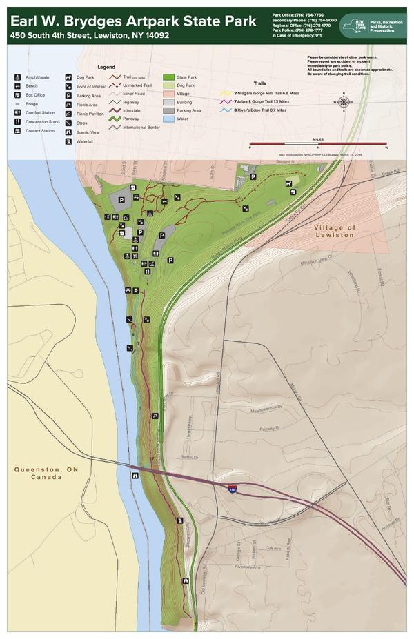 Artpark State Park Trail Map