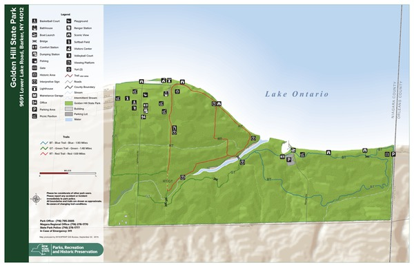 Golden Hill State Park Trail Map