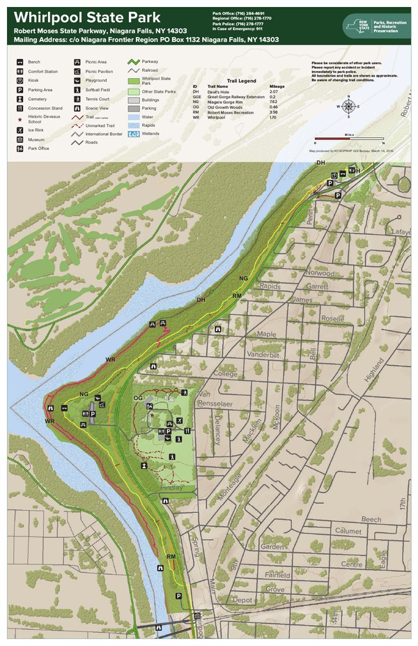 Whirlpool State Park Trail Map