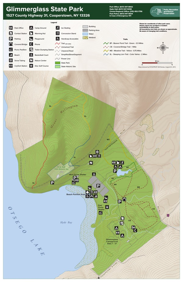 Glimmerglass State Park Trail Map