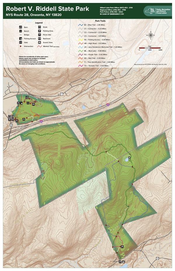 Robert V Riddell State Park Trail Map