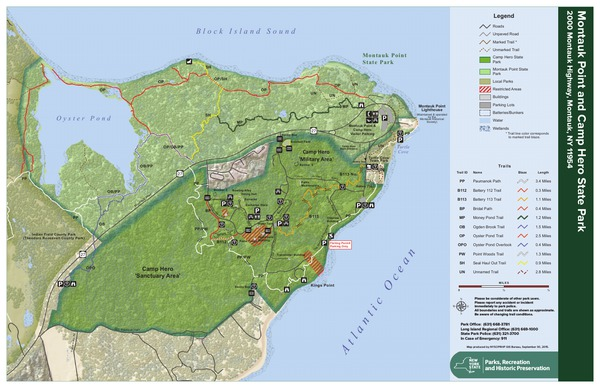 Camp Hero State Park Trail Map