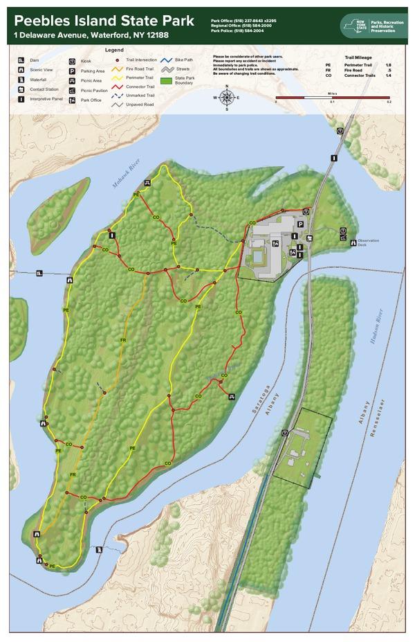 Peebles Island Trail Map