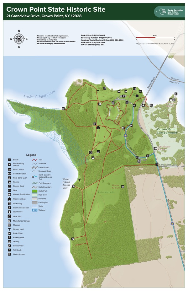 Crown Point State Historic Site Trail Map