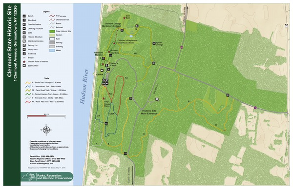Clermont State Historic Site Trail Map
