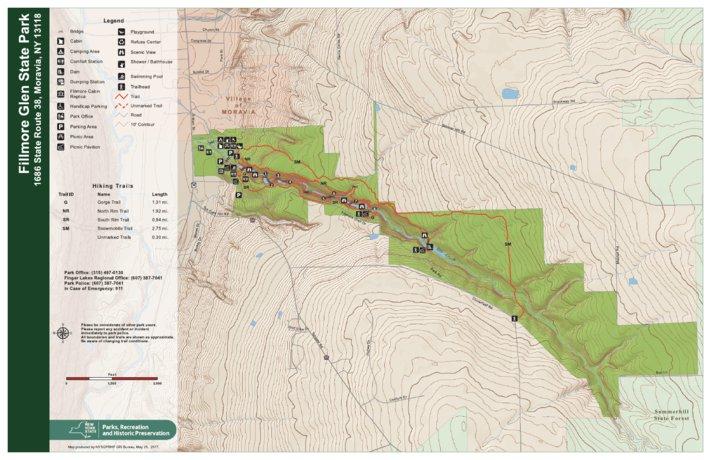 Fillmore Glen State Park Trail Map