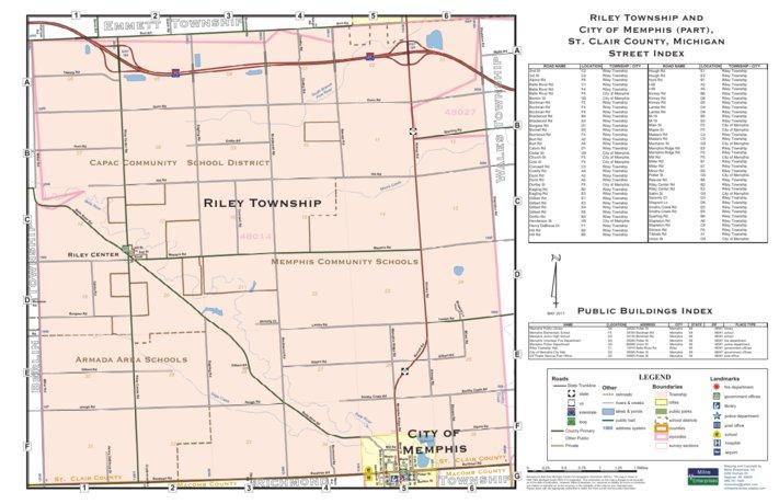 Memphis Michigan Map.Riley Township St Clair County Mi Milne Enterprises Inc