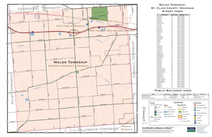 Memphis Michigan Map.Wales Township St Clair County Mi Milne Enterprises Inc