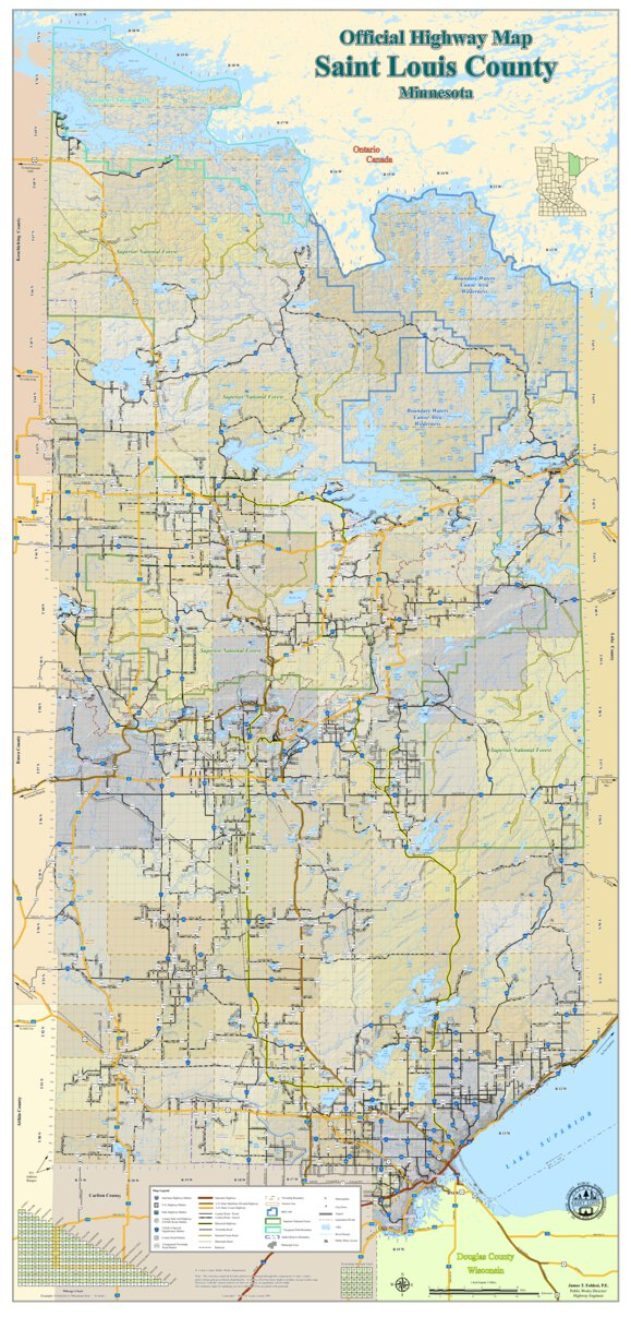 Picture of: Official Highway Map St Louis County Mn St Louis County Mn Avenza Maps