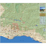 Santa Barbara Outdoor Recreation Topo Map - East Side