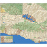 Santa Barbara Outdoor Recreation Topo Map - West side