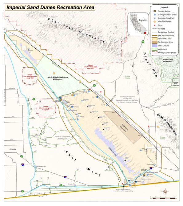 BLM   Imperial Sand Dunes Rec Map   BLM   California   Avenza Maps