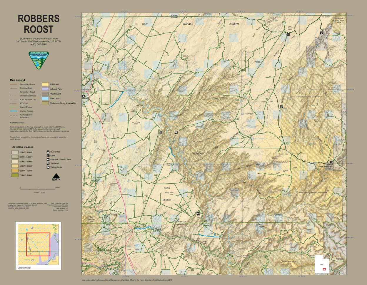 BLM Utah Robbers Roost - Bureau of Land Management - Utah - Avenza Maps