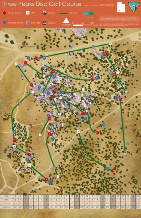 BLM Utah Three Peaks Disc Golf Course - Bureau of Land Management ...