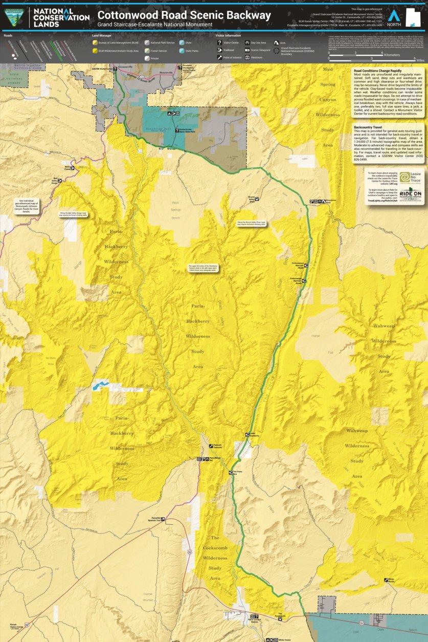 BLM Utah Cottonwood Road - Bureau of Land Management - Utah - Avenza ...