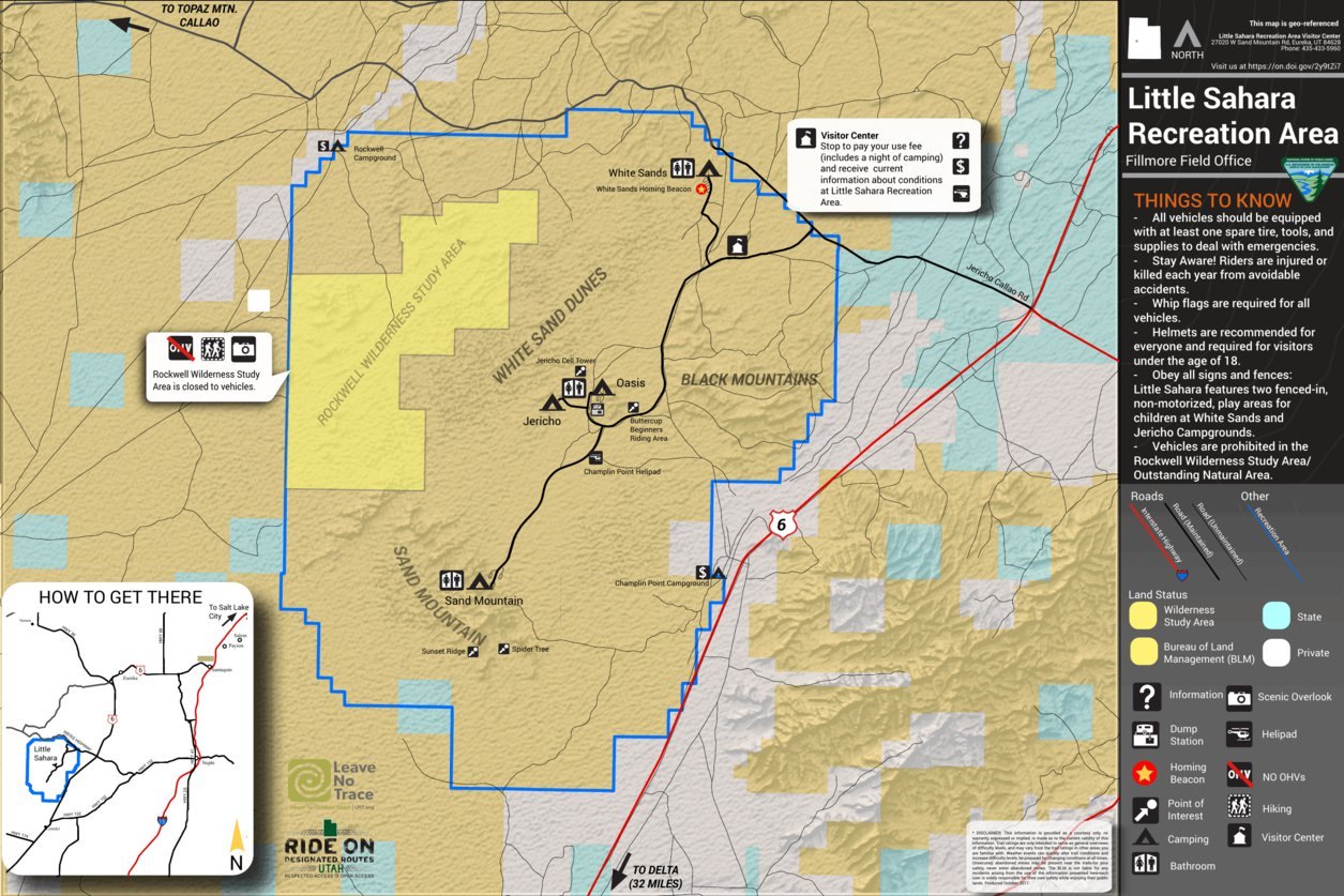 BLM Utah Little Sahara - Bureau of Land Management - Utah - Avenza Maps