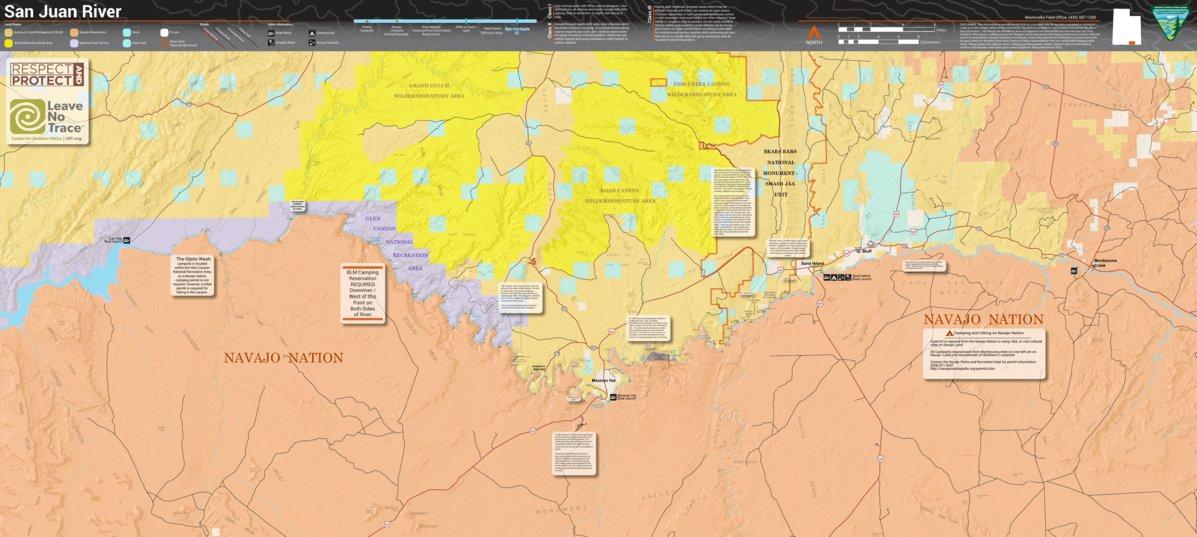 San Juan River Utah Map.Blm Utah San Juan River Bureau Of Land Management Utah Avenza Maps