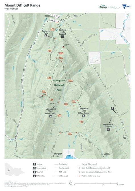 Grampians National Park-Mount Difficult Range - Parks ...