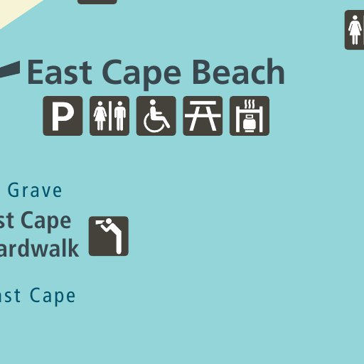 Cape Conran Coastal Park inset map Visitor Guide - Parks