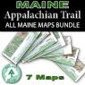 Appalachian Trail in Maine - 7 Map Bundle