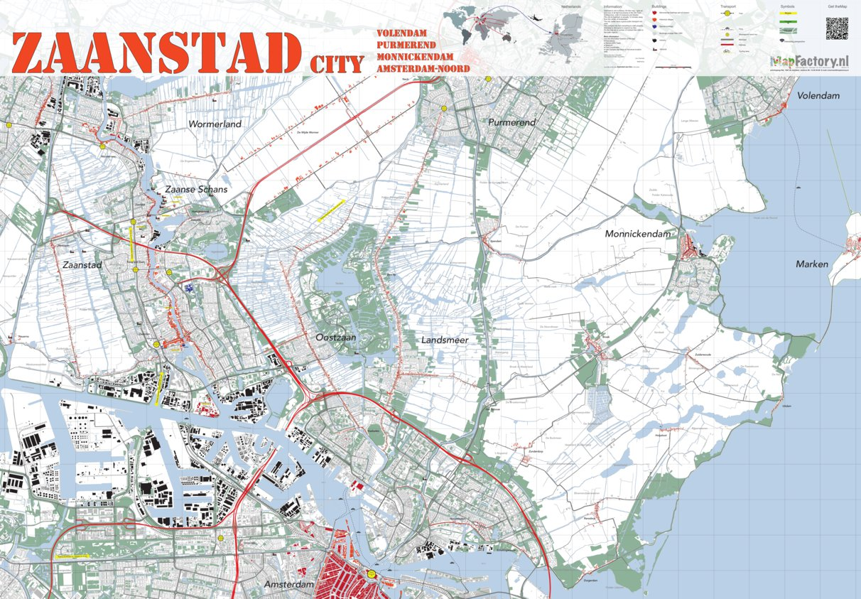 Zaanstad Travel Map 2017 Mapfactory Avenza Maps