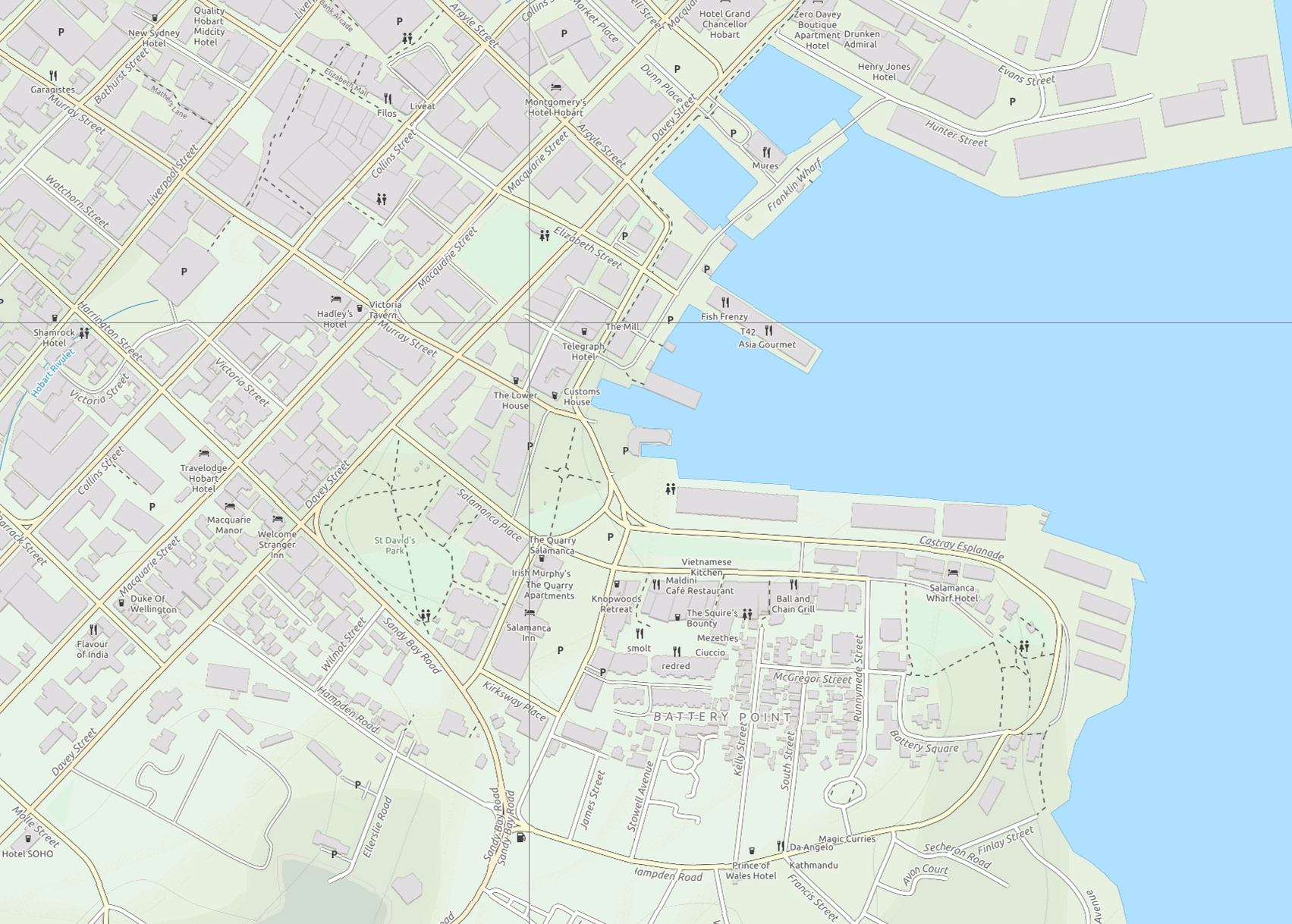 Hobart Area Tourist Street Map Paul Johnson Avenza Maps
