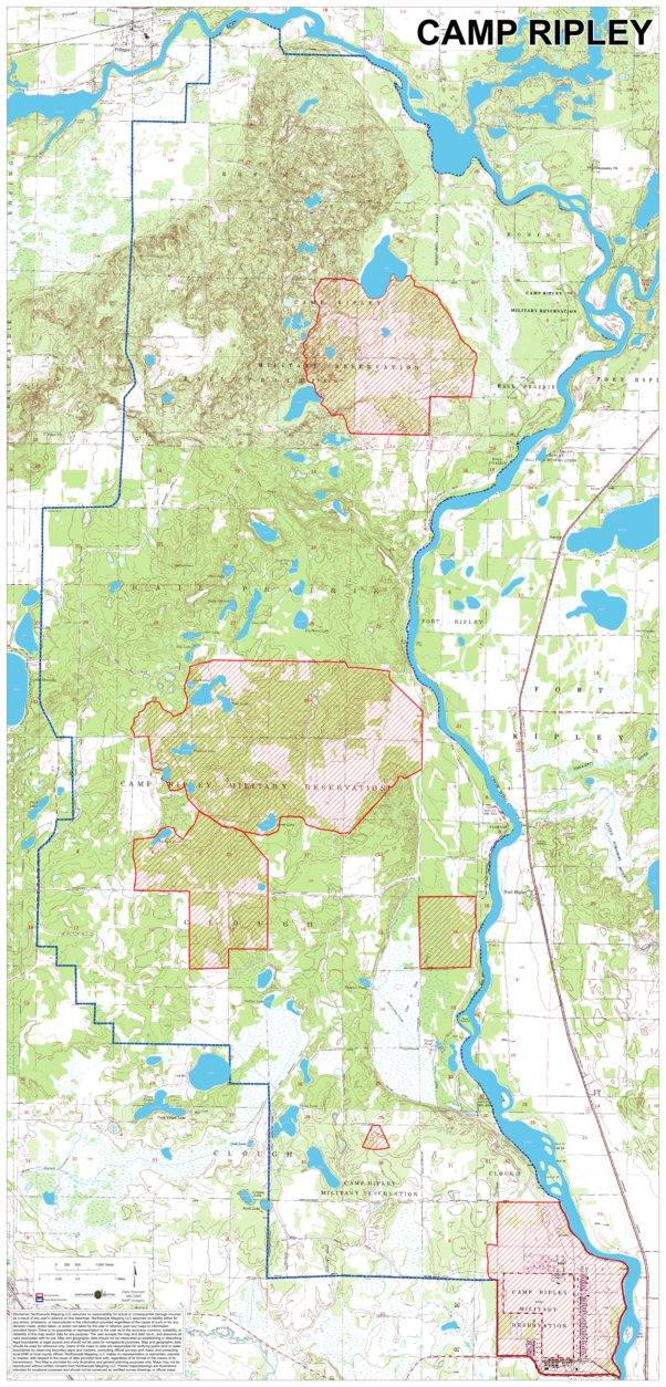 Camp Ripley Hunt Maps - Northwoods Mapping LLC - Avenza Maps on